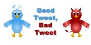 good vs. bad twitter
